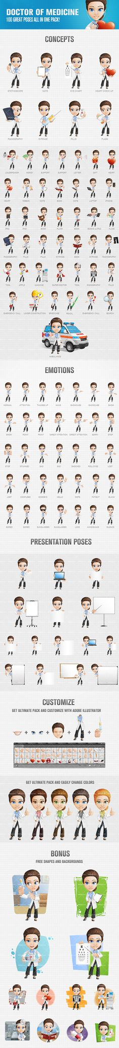 Doctor of medicine cartoon character featuring smart look. You know that it's not the quantity, but the quality of our cartoon characters that makes us special. Take a look at our cartoon character and see it yourself. Continue reading →
