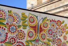 A beautiful socialist-era mosaic that many people miss seeing....