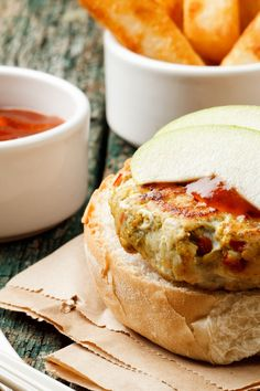 Turkey Burgers with Brie, Cranberries, and Fresh Rosemary Recipe