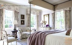 From Côté de Texas - I quite fancy a lilac room