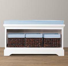 Marlowe Storage Bench | Bookcases & Storage | Restoration Hardware Baby & Child