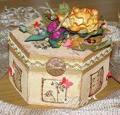 Treasure box with a hint of decadent elegance...  http://underacreativespell.blogspot.com/2011/03/treasure-box-with-hint-of-decadent.html