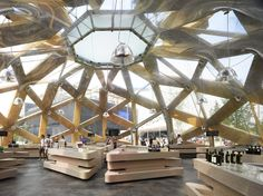 Copagri Pavilion 'Love IT' for Expo Milano 2015 | Miralles Tagliabue EMBT; Photo by Roland Halbe | Archinect