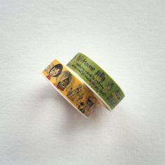 Cute Washi Masking Tape Roll - Home Life Masking Tape, Washi Tape, Rolls, Japanese, Cute, Duct Tape, Japanese Language, Buns, Kawaii