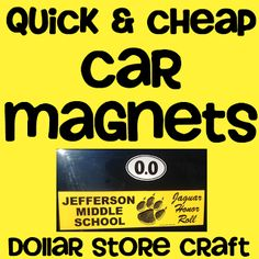 Cheap & Easy Bumper Sticker turned Car Magnet from DianaRambles.com @FreeStyleMama #dollarstore #DIY #car