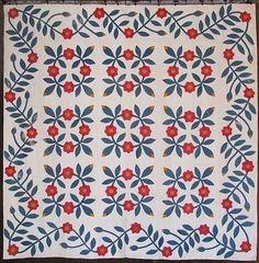 Simply Dances Antique 1850 70s Presidents Wreath Applique Quilt Vining Border | eBay