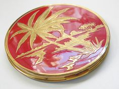 Vintage Red Rex Fifth Avenue Large Compact by GrandVintageFinery, $38.00