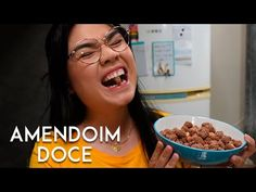 AMENDOIM DOCE (PRALINÉ) | AMANDA HOSSOI - YouTube Breakfast, Youtube, Peanuts, Yummy Recipes, Sweet, Breakfast Cafe, Youtubers, Youtube Movies