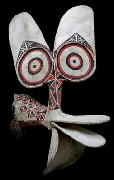 LOXOCO FACADE: Fire Dance Masks (Cane base covered with barkcloth) by the Baining people of Papua New Guinea