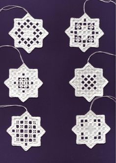Hardanger Stars - Pattern from the Internet XI 2005 # .- Hardanger Sterne – Muster aus dem Internet XI 2005 Hardanger Stars – Pattern from the Internet XI 2005 … - Hardanger Embroidery, Cross Stitch Embroidery, Hand Embroidery, Cross Stitches, Types Of Embroidery, Embroidery Patterns, Doily Patterns, Dress Patterns, Drawn Thread