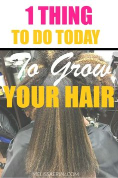 Here's one thing you can do to grow your hair at home with using the best products. How To Grow Natural Hair, Natural Hair Styles, Long Hair Styles, Natural Hair Growth Remedies, Things To Do Today, Hair Growth Tips, Beauty Makeup Tips, Natural Hair Inspiration