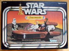 Kenner Star Wars Landspeeder - hidden wheels dropped down and gave the appearance that the speeder was hovering as it rolled across the floor