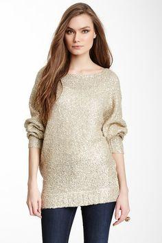 Glazed Metallic Dolman Sweater on HauteLook