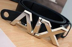 Armani Exchange Belt  (Pre-owned Men's Belts, Black)
