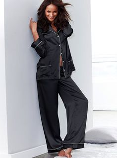 6bb3a6ae9e Slip into something seductive with The Afterhours Satin Pajama from  Victoria s Secret. Our sleepwear collections are THE destination for pajama  sets and ...