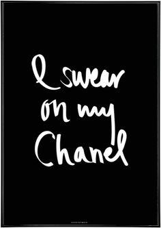 I Swear On My Chanel.  Via @jena1125. #Chanel #chic