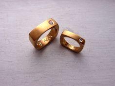 dh joyas. Alianzas oro amarillo y diamante