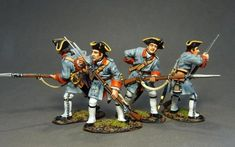 Toy Soldiers, Four, 18th, Miniatures, Military, Indian, French, Models, History