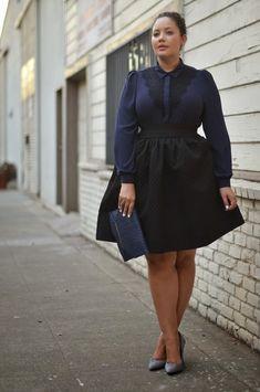 Plus Sized Women's Workwear. Fab curvy fashion look! #navy