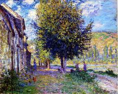 CLAUDE MONET (1840-1926): BANKS OF THE SEINE AT LAVACOURT (1878)