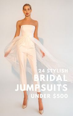 If you're eloping or having a traditional ceremony, snag yourself one of these stylish & affordable white jumpsuits for your wedding or elopement all for under $500.