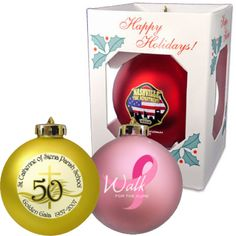 Round Shatterproof Ornaments