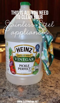 Quick Cleaning Tip: Stainless Steel Appliances – Clean Mama House Cleaning Tips, Deep Cleaning, Spring Cleaning, Cleaning Hacks, Cleaning Tubs, Cleaning Vinegar, Cleaning Supplies, Cleaners Homemade, Diy Cleaners