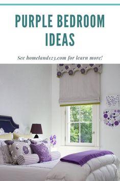 Easy Purple Bedroom Ideas  #Bedroom #Ideas #BedroomIdeas #PurpleBedroom #Purple Purple Bedrooms, Bedroom Ideas, Curtains, Unique, Easy, Inspiration, Home Decor, Purple Rooms, Biblical Inspiration