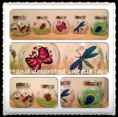 HAND PAINTED sweet jars sweetie party  Party Bags for Kids - Milton Keynes  07799 434226 Crofty75@aol.com 07799434226