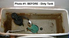 Toilets - Why Clean the Tank? - (New Video Added - Check it out in COMMENTS) - Have you looked inside your toilet tank lately? Before you jump into high-… Cleaning Toilet Tank, Toilet Tank Cleaner, Bathroom Cleaning Hacks, Diy Cleaning Products, Cleaning Solutions, Cleaning Tips, Storage Solutions, Diy Cleaners, Cleaners Homemade