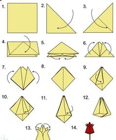 642 best origami flowers images on pinterest in 2018 paper origami tulpen mightylinksfo