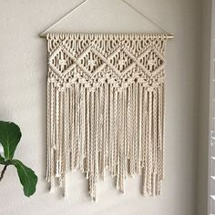 Macrame Patterns/Macrame Pattern/ Macrame Wall Hanging Pattern/Wall Hanging/Modern Macrame/Pattern/DIY/Craft/Name: Four of Diamonds Macrame Design, Macrame Art, Macrame Projects, Macrame Knots, Diy Projects, How To Macrame, Macrame Wall Hanging Patterns, Wall Patterns, Macrame Wall Hangings