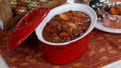 Chop up carrots, onions, garlic and celery for this delicious and hearty beef stew that will feed the whole family.