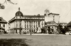 Bucuresti - Pta Romana - 1929 Bucharest Romania, Old City, Old Pictures, Louvre, Street View, Memories, Beautiful, Country, Building