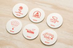 Coasters by Can I Play for Australian pizza franchise Melt.