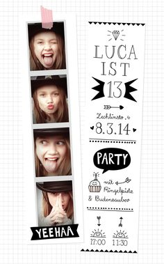 teen's birthday – carte d'anniversaire ado Cute Birthday Cards, Birthday Party Invitations, Invitation Fete, Invite, Teen Birthday, Birthday Ideas, Diy For Kids, Kids Playing, Party Time