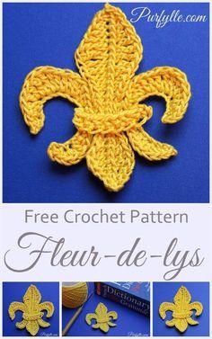Purfylle: Fleur-de-lys Motif Crochet Pattern