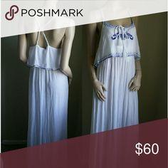 Bebe white maxi dress M Medium New with tahs bebe Dresses Maxi