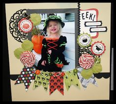 #papercraft #scrapbook #layout. SU convention display, creator unknown / great recipe...lovin' the banner! Scrapbooking 101, Scrapbook Page Layouts, Scrapbook Sketches, Scrapbook Paper Crafts, Halloween Scrapbook, Disney Scrapbook, Baby Scrapbook, Scrapbook Cards, Picture Layouts