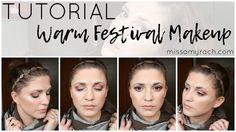 Affordable Warm Festival Makeup Tutorial | Miss Amy Rach