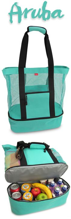 Love the Aruba Mesh Beach Bag Cooler from OdyseaCo - the perfect turquoise summer essential for beach or pool, it makes a great bag for festivals and concerts too! :) http://www.amazon.com/Aruba-Beach-Insulated-Picnic-Cooler/dp/B00VV7GPMS #beachlife