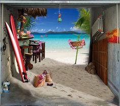 Fotoplane für Garagentor Strand / Garage Mural Beach
