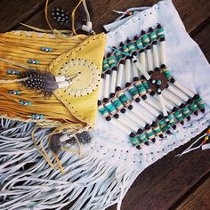 Native fashion with teal. <3