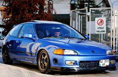 blue honda civic eg , aem , spoon , skunk2 , jdm photo