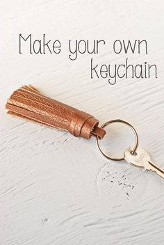 How to make your own tassel keychain Make Your Own Keychain, Diy Keychain, Leather Tassel Keychain, Leather Jewelry, Leather Necklace, Leather Accessories, Leather Diy Crafts, Fabric Scraps, Scrap Fabric