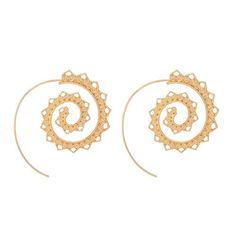 Buy Tocona Ornate Swirl Hoop Gypsy Indian Tribal Ethnic Earrings Boho Earrings for Women Jewelry 4198 Heart Shaped Earrings, Round Earrings, Women's Earrings, Unique Earrings, Tribal Earrings, Vintage Earrings, Statement Earrings, Vintage Jewelry, Fashion Earrings
