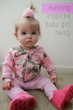 Baby Swag: Hunting Inspired Outfit. Baby camo, baby uggs, the perfect outfit for a country baby girl. www.boydmeetsgirl.com