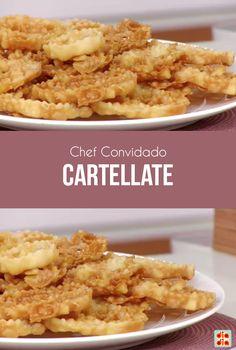 O chef Rafael Barros e sua mãe Concetta Pappalardo foram os convidados especiais do Dia Dia. Veja a receita de Cartellate que eles prepararam!