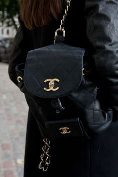 Chanel Backpack I would need to save up alot in order to afford this :| so pretty tho