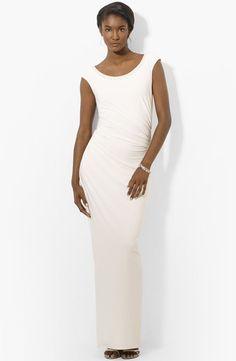 Beaded Scoop Neck Matte Gown  by LAUREN BY RALPH LAUREN (size 8)- #LaurenRalpLaurenevening #Formal